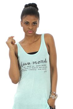 For every fashionista, the Beau Monde Tank ♥ FavebyVfish on Etsy, $32.90