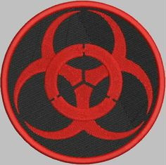 Biohazard Patch Embroidery Design by DrusDesigns on Etsy