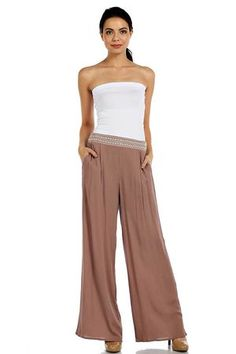 Vacation-wear or errand-wear, these Palazzo Pants are comfortable and stylish for just about anything on your schedule.  find at cottonandpearls.com.