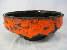 Rare 70´s design  Roth Keramik Schale / bowl thick   Fat Lava   glaze 4211