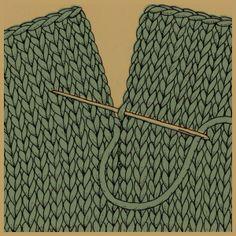 Stopfen von Nähten braucht man, um einzelne Strickteile miteinander zu verbinden. Je nach Strickart gibt es verschiedene Möglichkeiten.