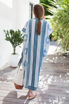 I want this emerson fry cerulean caftan so bad.