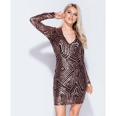 Abby Rose Gold Sequin Bodycon Dress