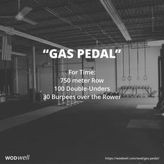 For Time: 750 meter Row; 100 Double-Unders; 30 Burpees over the Rower
