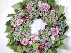 "Dried Floral Wreath ""Hydrangea Heaven""    #wreaths #driedflowers"