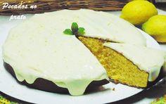 Receitas de pecados no prato: Bolo de limão com cobertura de leite condensado