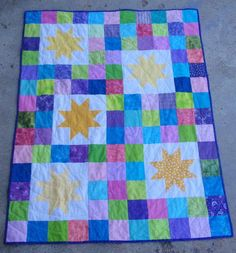 Scrappy Star Quilt Pattern | FaveQuilts.com