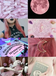 Witch Aesthetics // Pink Witch  Blue | Gray | Purple | White | Red | Green | Orange