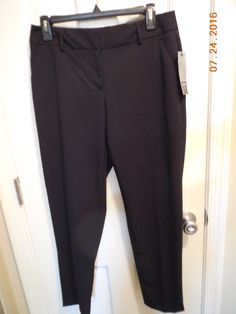 Apt 9 Slim Straight Black Modern Essentials Pant Size 8 Black Career Pants | eBay