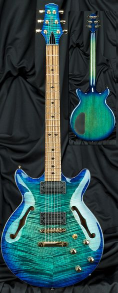 Carvin Guitars FG1 Frank Gambale Semi-Hollow Carved Top Guitar Serial Number 122558