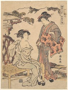 Torii Kiyonaga  (Japanese, 1742–1815)  Culture: Japan Medium: Polychrome woodblock print; ink and color on paper