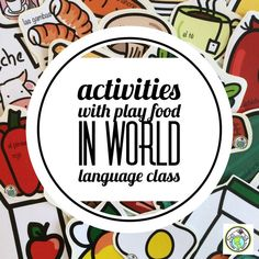 So many ways to use play food in world language classes-all levels and all ages! This blog post features a bunch of lesson ideas to incorporate play food in your class. Mundo de Pepita, Resources for Teaching Languages to Children #playfood #worldlanguage Middle School Spanish, Elementary Spanish, French Lessons, Spanish Lessons, Teaching French, Teaching Spanish, World Language Classroom, Spanish Lesson Plans, World Languages