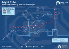Ecco quali saranno le nuove linee notturne della tube di Londra
