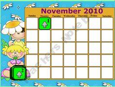 November interactive smartboard calendar.  Using it everyday:)