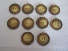 10 Stück Jacken/Mantelknöpfe Braun,Durchmesser ca.27 mm,Neu,Lübecker Knopfmanufaktur von Knopfshop auf Etsy