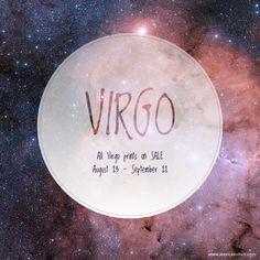 Virgo Zodiac Print by JSGD - ON SALE!