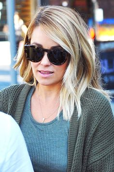 Lauren Conrad just chopped off these wavy blonde locks!