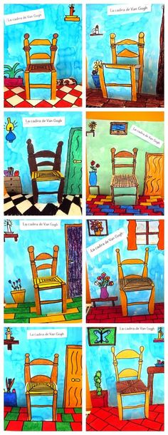 cadira de Van Gogh Mais and Grade will create the scene of Van Gogh room the focus will be the chair they will use oil pastel Artist Van Gogh, Van Gogh Art, Art Van, Van Gogh For Kids, Art For Kids, 6th Grade Art, Ecole Art, School Art Projects, Art Lessons Elementary