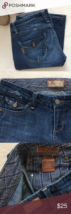 """Paige """"Pico"""" Low Rise Boot Cut Jeans Preloved Paige jeans. 34"""" inseam. 7"""" rise. 99% cotton 2% spandex. Paige Jeans Jeans Boot Cut"""