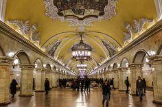 Russia, Moscow, Komsomolskaya Metro Station HDR