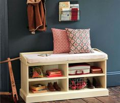 Awesome Oak Hall Bench