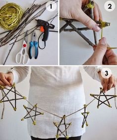 DIY Christmas Decorations Easy and Cheap - Painted Wooden Spoons - Quick, Easy, Cheap and Free DIY Crafts Rustic Christmas, Kids Christmas, Handmade Christmas, Christmas Ornaments, Cheap Christmas, Xmas, Recycled Christmas Decorations, Yule Decorations, Twig Crafts