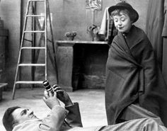 Federico Fellini and Giulietta Masina on the set ofLa Strada