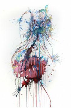 Mode-illustraties gemaakt van inkt, thee en alcohol | NSMBL.nl