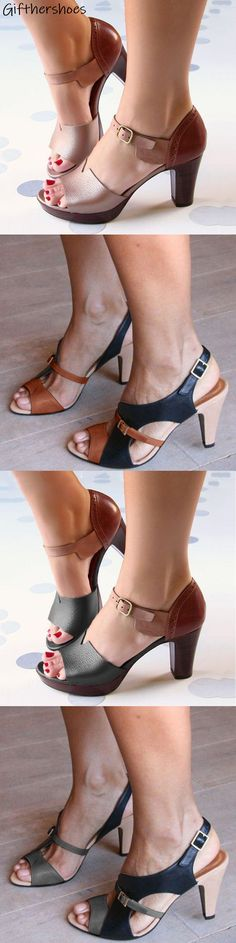 SHOP OFF Hot Chunky Heels Sandals Shoes Picks for Your Daily Outfits. Pretty Shoes, Beautiful Shoes, Cute Shoes, Me Too Shoes, Shoe Boots, Shoes Sandals, Dress Shoes, Heeled Sandals, Strappy Sandals