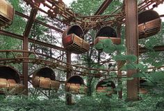 Abandoned carnival rides. OMG I can so picture one of these with the rails, suspended in an industrial warehouse apartment and converted to a sofa or daybed. AWESOME!!!