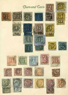 Old German States Thurn and Taxis, Michel MICHEL ()# - THURN & Taxis: 1852 / 66, extensive old collection the different Ziffernausgaben with and without roulette, as well amongst other things nice cancelled superb items, partly multiple, mixed quality  Lot condition *   Dealer Schlegel Online Auktionen  Auction Starting Price: 1000.00 EUR