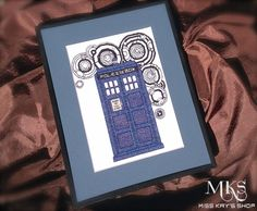 TARDIS Doctor Who Cross Stitch Pattern by MissKaysShop on Etsy $9.99