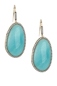 Adam Marc  Amazonite Freeform Drop Earrings