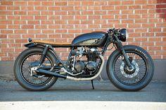 Black & Tan CB550 build by Brady Young // Seaweed & Gravel
