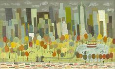 NYC Art print  Central Park.  Limited edition 24x36 por matteart