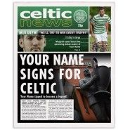 Celtic Personalised Newspaper Personalised Football, Gifts For Football Fans, Celtic Fc, Sports Gifts, Name Signs, Gifts For Boys, Newspaper, Names, Baseball Cards