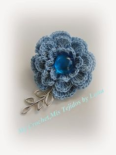 My Crochet , Mis Tejidos by Luna: Brooch , a Mother's Day Gift / Un Broche para Regalito del Dia de La Madre