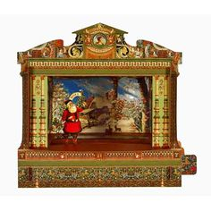 toy theatre 3-d christmas card