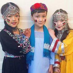 Adorable Hazara-Mongol kids in Afghanistan.