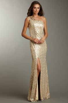 Double Strap One Shoulder Gown