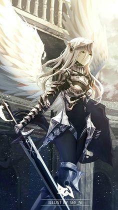 Summerisle Kizmel Co Leader - Best anime list Chica Anime Manga, Art Anime, Anime Artwork, Anime Art Girl, Fantasy Artwork, Manga Girl, Anime Girls, Anime Angel Girl, Fantasy Character Design