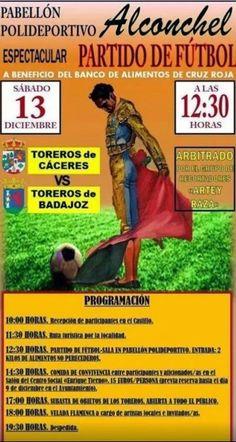 Toros en Extremadura: Partido de fútbol sala entre toreros de Cáceres y Badajoz a beneficio del Banco de Alimentos.