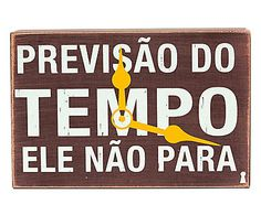 Box Decorativo Previsão do Tempo - 15x10cm
