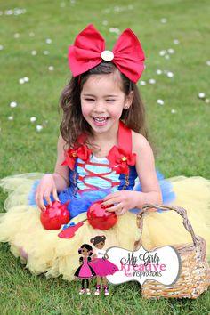 Snow White Disney Princess Birthday Party Tutu Outfit - Halloween Costume - Cake Smash - Snow White Dress Skirt Shirt 1st 2nd 3rd - 6mos-5T