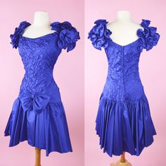 Purple 80s Prom Dress // Vintage Cocktail 1980s Costume Party Dress Womans Size Medium by RIPandROSE on Etsy