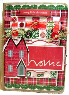Scrapbook Mini Christmas Premade Album  by kitsnbitscraps on Etsy, $39.99