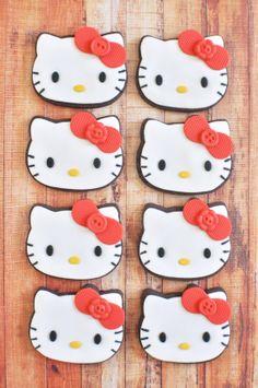 Hello Kitty Chocolate Cookies  1 dozen Chocolate by MarinoldCakes, $45.00 Cat Cookies, Chocolate Cookies, Hello Kitty, Unique Jewelry, Handmade Gifts, Etsy, Kid Craft Gifts, Chocolate Biscuits, Craft Gifts