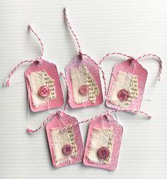 5 Handmade Tags for Junk Journals & Scrapbooking...
