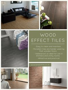 Wood effect tiles can be a great alternative to wooden floors #floortiles