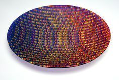 """fused glass """"tapestry"""" bowl by Richard Parrish...I so want to take a class with him! Incredible design <3"""